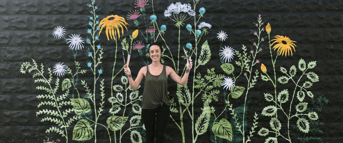 Clinton Street Flower Mural by Laura Wolanin, Praise the Sun Shop