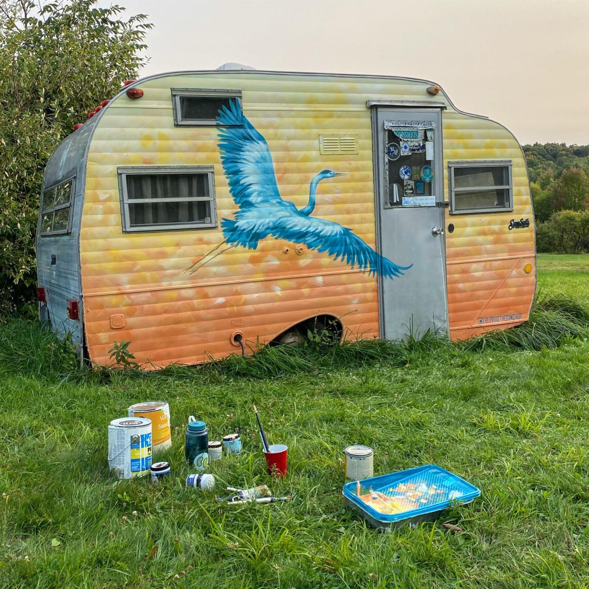 Heron Festival Camper Mural