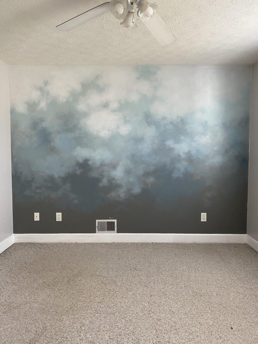 Baby Nursery Clouds Mural