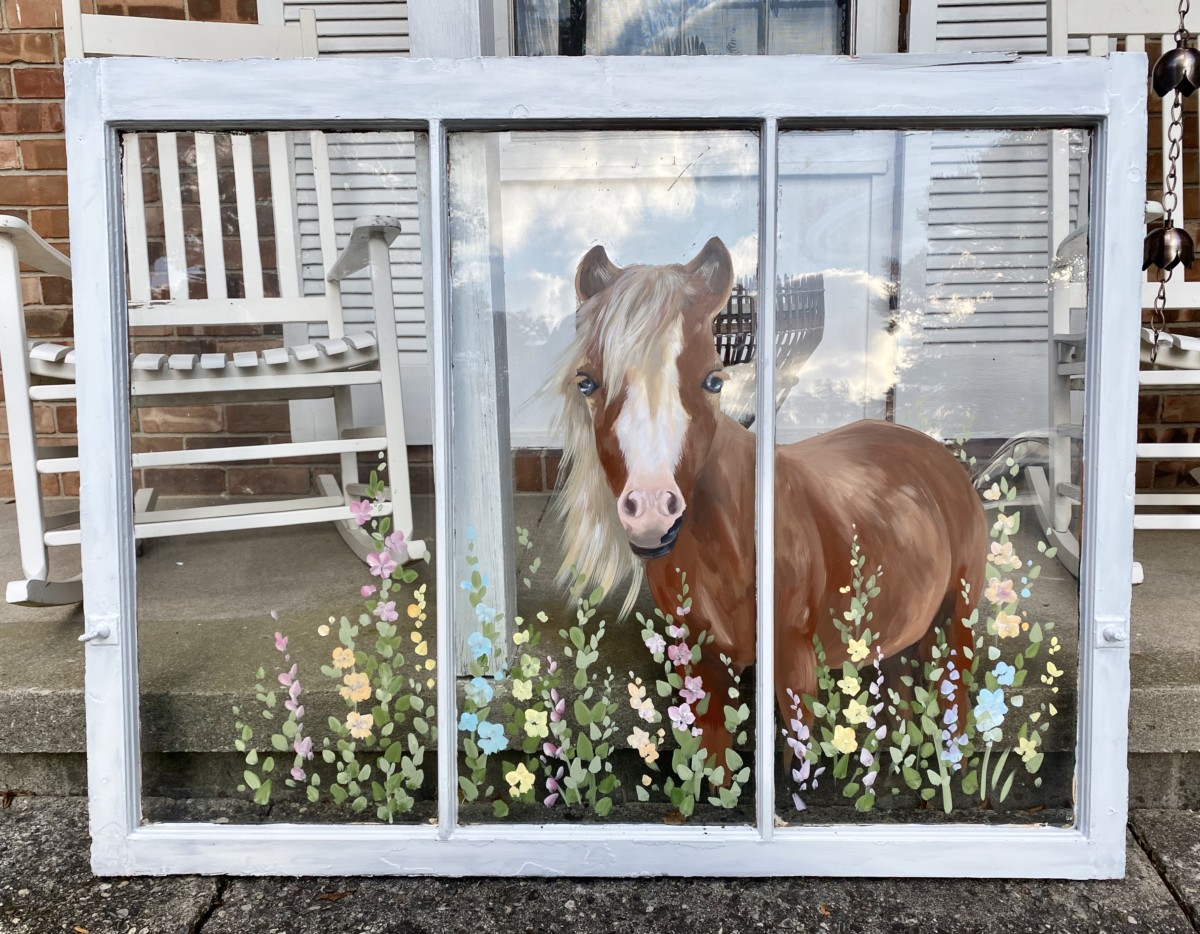 Portrait of a Horse on a Window